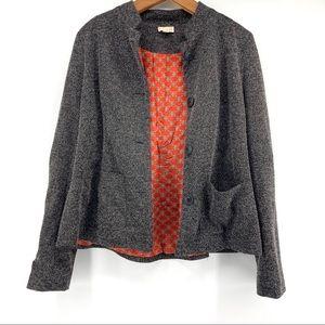 Hem & Thread Button Front Knit Jacket